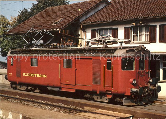 Eisenbahn Gepaecktriebwagen Schweiz Suedostbahn  Kat. Eisenbahn