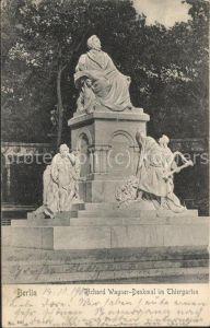 Wagner Richard Komponist Denkmal Berlin Thiergarten  / Musik /