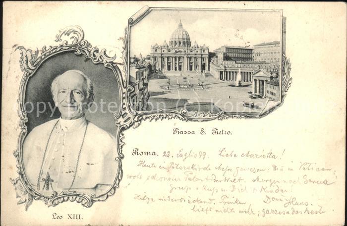 Papst Leo XIII. Piazza S Pietro / Religion /