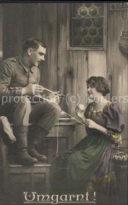 Poesie Krieg Liebe Soldat Umgarnt / Militaria /