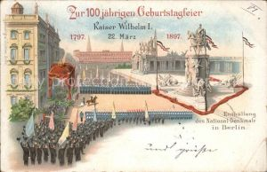 Adel Kaiser Wilhelm I. 100 jaehr. Geburtstagsfeier / Koenigshaeuser /