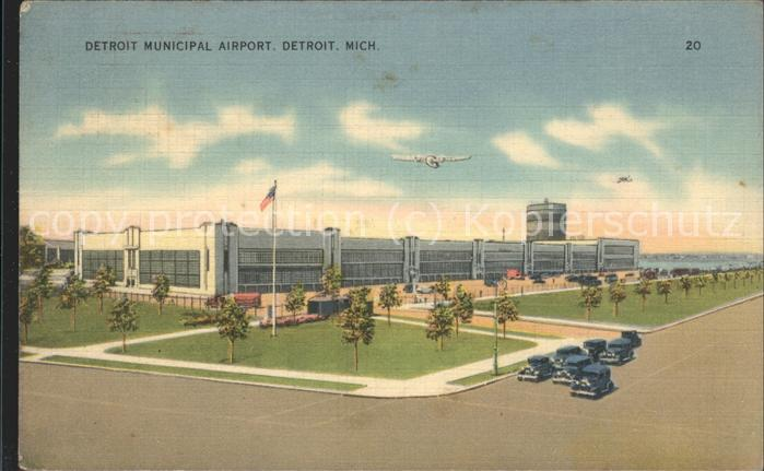 Flughafen Airport Aeroporto Detroit Municipal Airport Detroit / Flug /
