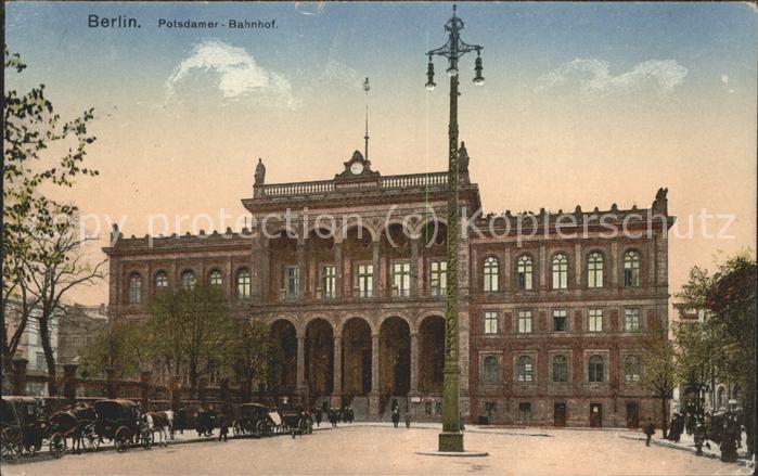 Bahnhof Berlin Potsdamer-Bahnhof / Eisenbahn /
