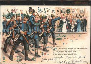 Infanterie Jaeger zu Fuss WK1 Gruss Fest / WK1 /