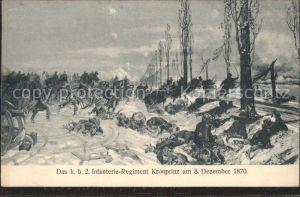 Infanterie Jaeger zu Fuss WK1 Regiment Kronprinz 8. Dez. 1870 / WK1 /