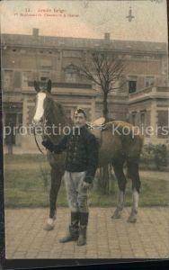 Militaria Armee belge Pferd Soldat / Militaria /