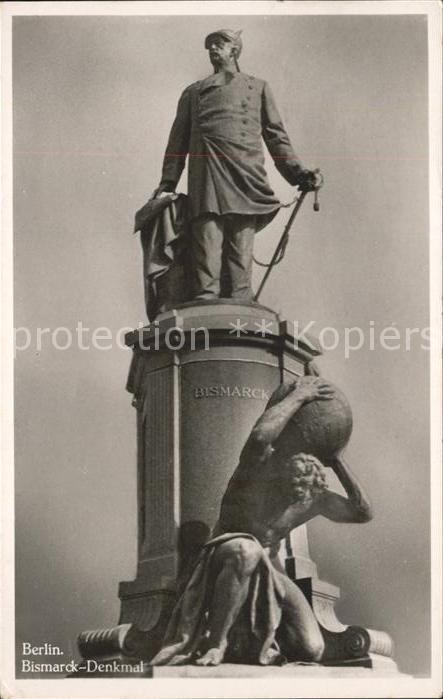 Denkmal Berlin Bismarck Denkmal / Denkmaeler /