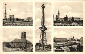 Funkturm Berlin Messehallen Reichskanzlerplatz Kat. Bruecken