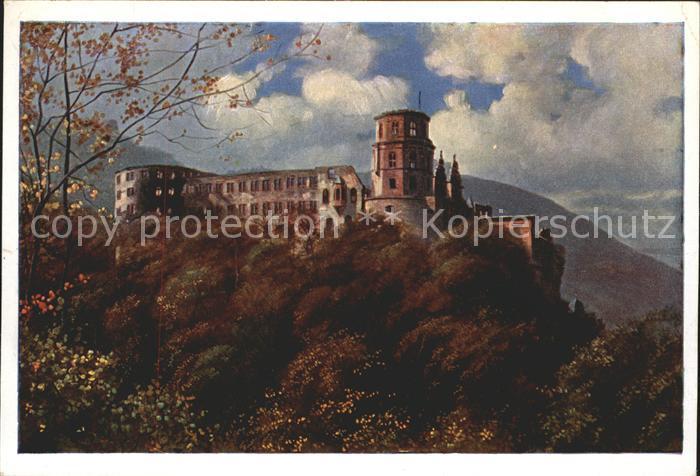 Hoffmann Heinrich Kuenstlerkarte Heidelberg Schloss  Kat. Kuenstlerkarte