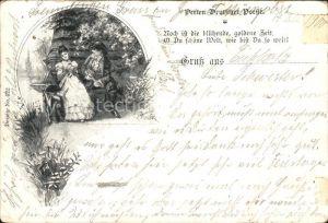 Kuenstlerkarte Poesie Jugendstil Kat. Kuenstlerkarte