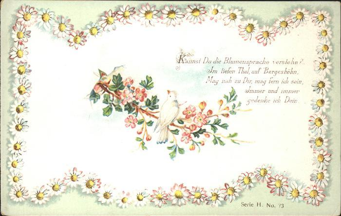 Blumen Voegel Blumensprache Gedicht Kat. Pflanzen