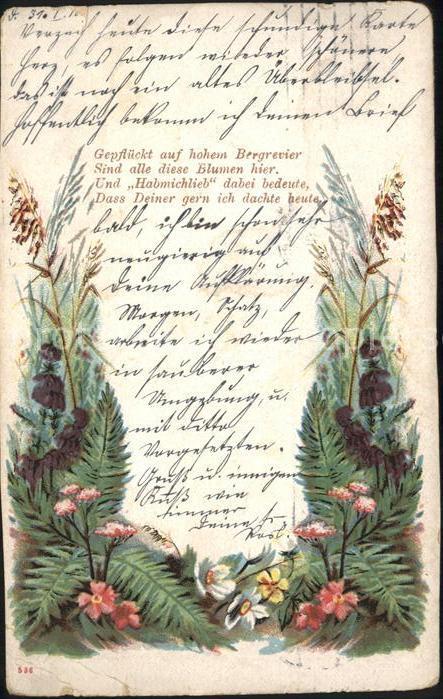 Blumen Gedicht Kat. Pflanzen