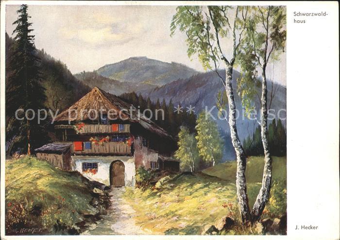 Kuenstlerkarte J. Hecker Nr. 3304 Schwarzwaldhaus Kat. Kuenstlerkarte