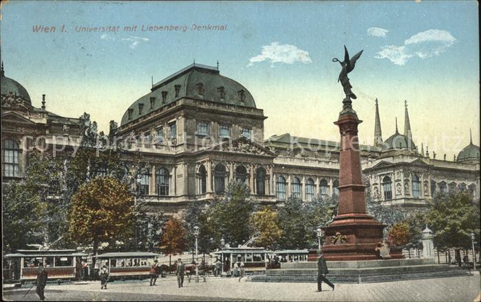 Universitaet Strassenbahn Liebenberg Denkmal Wien  Kat. Gebaeude