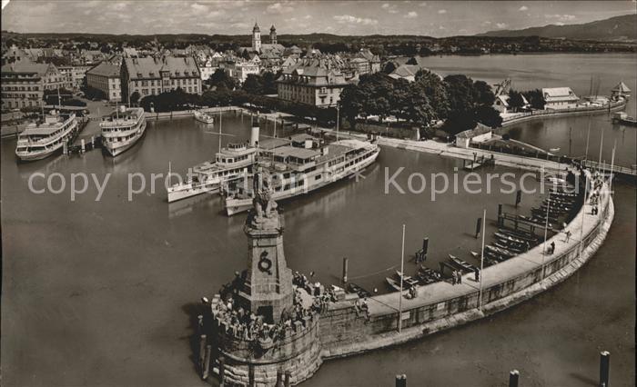 Dampfer Binnenschifffahrt Lindau im Bodensee Hafen Kat. Schiffe