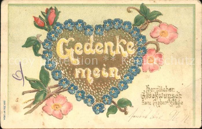 Geburtstag Herz Blumen Kat Greetings Nr Ka00848 Oldthing