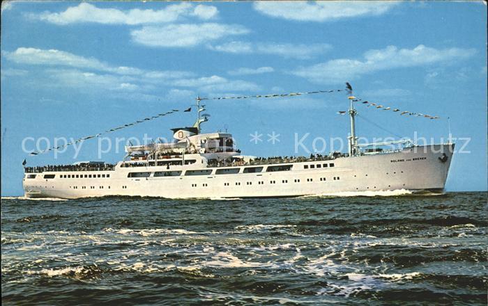 Schiffe MS Roland von Bremen Bremerhaven Helgoland  Kat. Schiffe