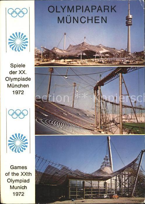 Olympia Park Muenchen Sporthalle Turm Schwimmhalle  Kat. Sport