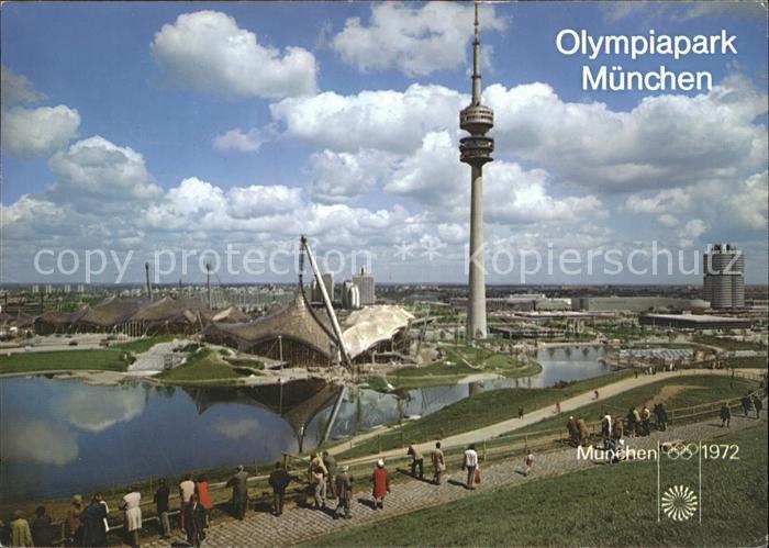 Olympia Olympiapark Muenchen Sporthalle Schwimmhalle Turm  Kat. Sport