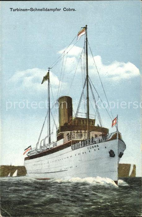 Dampfer Oceanliner Turbinen Schnelldampfer Cobra  Kat. Schiffe