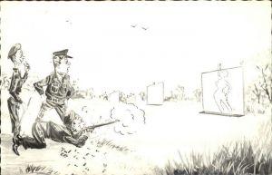 Militaria Humor Zeichnung  Kat. Humor