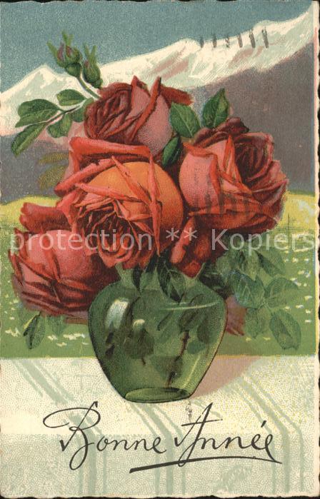 Rosen Bonne Annee Kat. Pflanzen