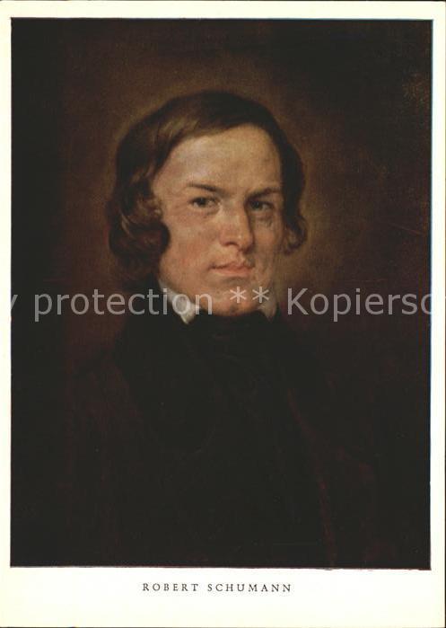 Kuenstlerkarte Robert Schumann Kat. Kuenstlerkarte