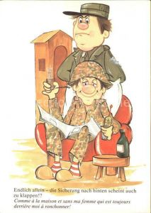Militaria Humor Sicherung Kat. Humor
