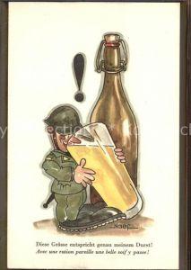 Humor Militaer Wein Bier  Kat. Militaria