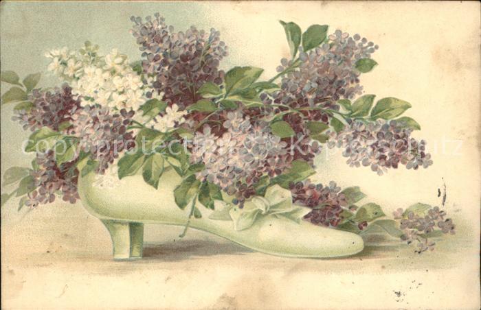Schuhe Flieder Blumen Kat Mode Nr Ka05801 Oldthing Sonstige