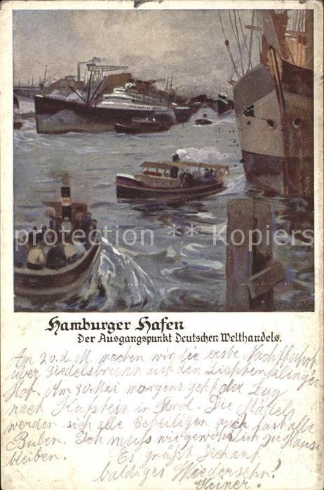 Hafenanlagen Hamburger Hafen Dampfschiffe Kat. Schiffe