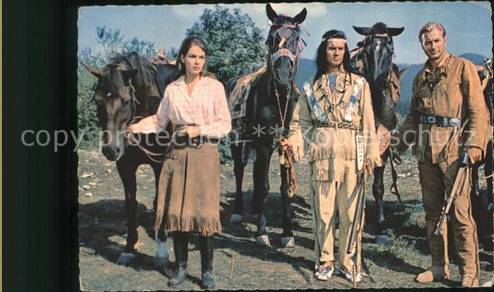 Winnetou Lex Barker Pierre Brice Indianer Kat. May Karl