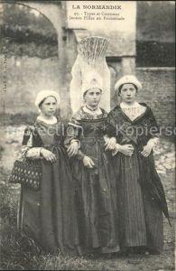 Trachten Frankreich Types et Costumes Normands Jeunes Filles Kat. Trachten