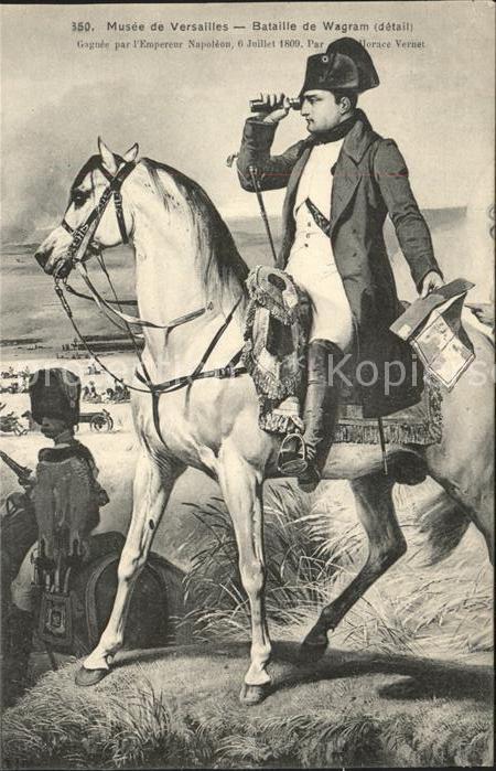 Napoleon Bonaparte Bataille de Wagram Musee de Versailles  Kat. Persoenlichkeiten