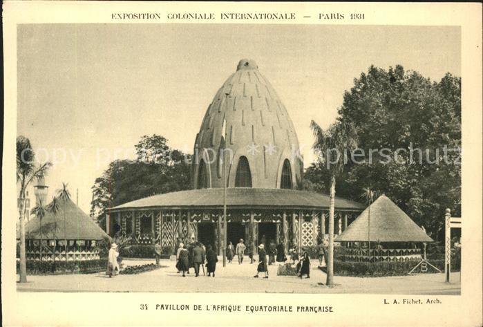 Exposition Coloniale Internationale Paris 1931 Pavillon de l Afrique Equatoriale Francaise Kat. Expositions