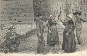 Liederkarte La Bourreio d Aubergno Bourree d Auvergne Kat. Musik