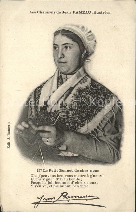 Handarbeit stricken Frau Tracht Le Petit Bonnet Jean Rameau  Kat. Handarbeit