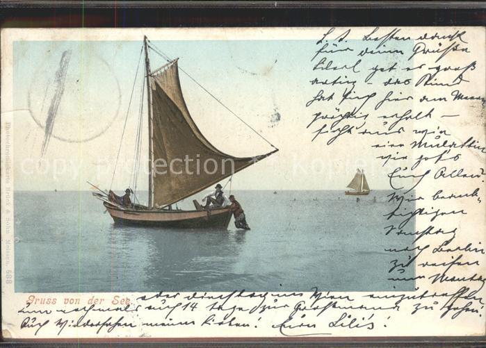 Segelboote Photochromiekarte Nr. 588 Kat. Schiffe 0