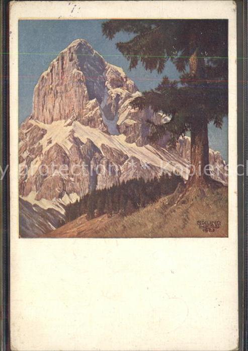 Hess Bruno Nr. 1530 Kalbling vom Sueden  Kat. Kuenstlerkarte