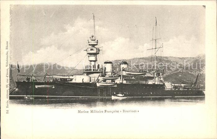 Marine Militaire Francaise Bouvines Kat. Schiffe