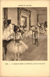 Ballett Degas Lecon de danse Opera de la Rue le Peletier  Kat. Tanz