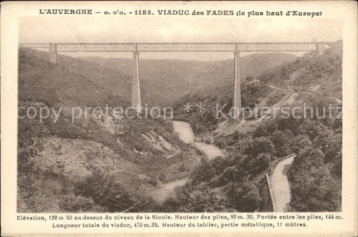 Viadukte Viaduc Auvergne Viaduc des Fades  Kat. Bruecken