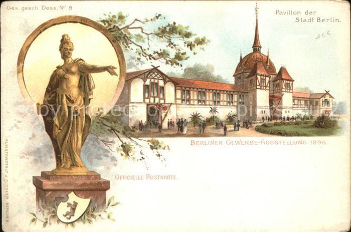 K Nstler Ak Berlin Gewerbe Ausstellung 1896 Gasthof
