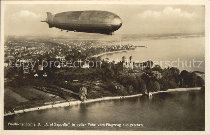 Zeppelin Graf Zeppelin Friedrichshafen Fliegeraufnahme Kat. Flug