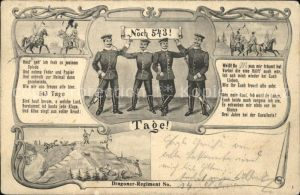 Regimente Dragoner Regiment Noch 543 Tage Soldaten Kat. Regimente