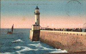 Leuchtturm Lighthouse Le Treport Phare Jetee Kat. Gebaeude