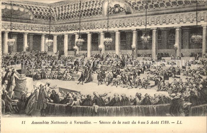 Politik Geschichte Assemble Nationale Versailles 1789 Kat. Politik und Geschichte
