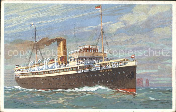 Dampfer Oceanliner Turbinen Schnelldampfer Kaiser  Kat. Schiffe