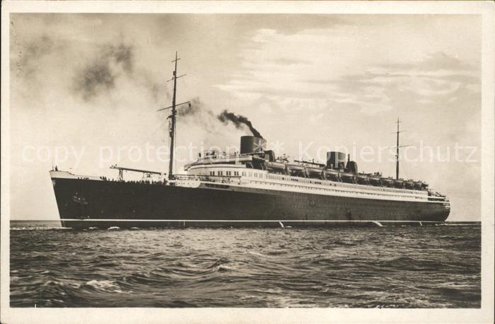 Dampfer Oceanliner Turbinen Schnelldampfer Bremen Kat. Schiffe