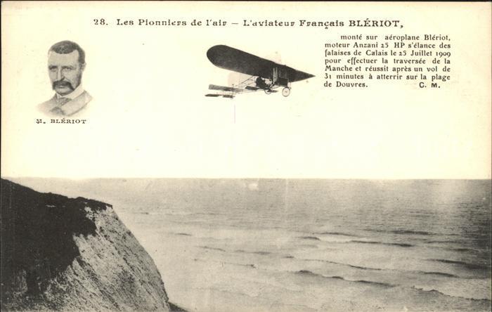 Flugzeuge Zivil Bleriot  Aviateur Francais Bleriot  Kat. Flug